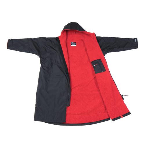 Dryrobe Advance Long Sleeve Black Red Large
