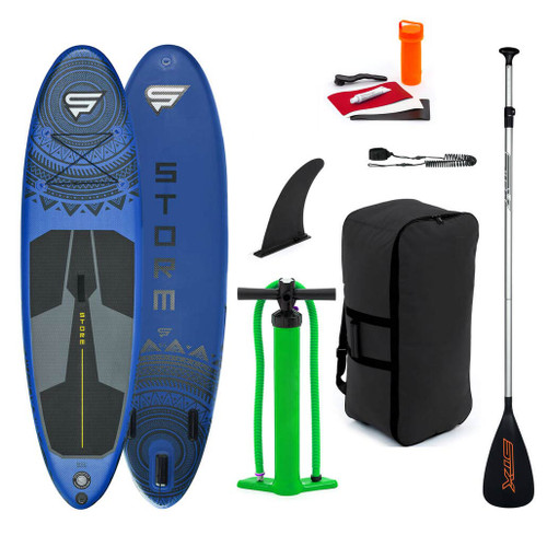 Storm Freeride 9'8 x 30 ISUP inflatable PaddleBoard Package Blue