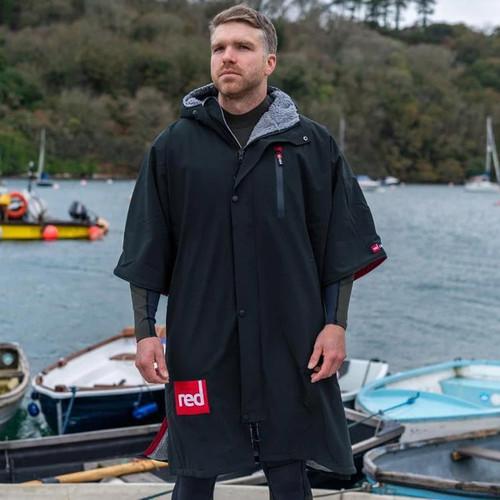Red Paddle Pro Change Robe Short Sleeve Black