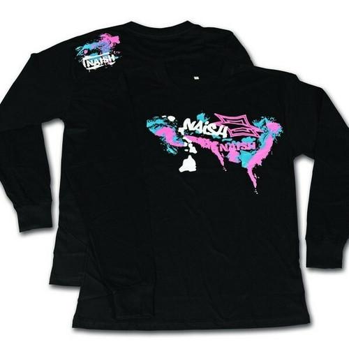 Naish 'Spray Paint' Long Sleeve T-Shirt