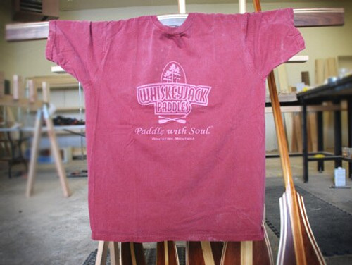 Whiskeyjack paddle with soul t shirt