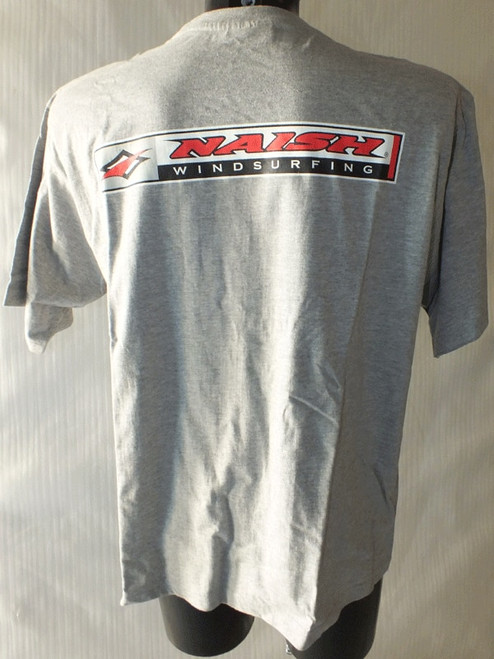 Naish Grey Windsurfing T Shirt Back Print