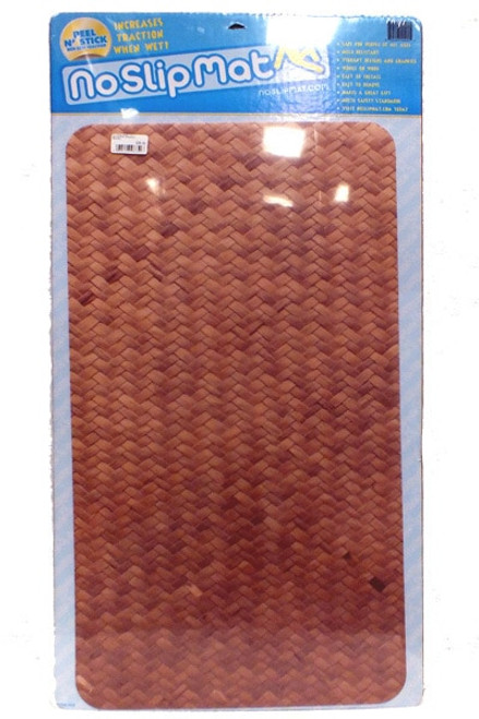 Versa Traction No Slip Mat 25x16 inch - Bamboo design