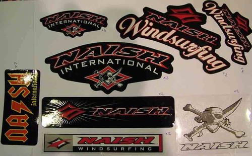 Naish windsurfing dark side sticker pack