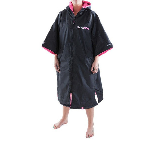 Dryrobe Advance Changing Robe Black Pink