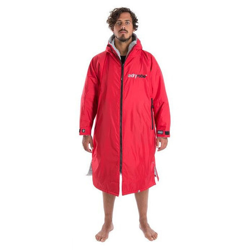 Dryrobe Large Long Sleeve Red Grey