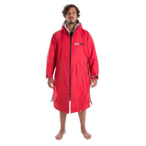 Dryrobe Large Long Sleeve Red Grey