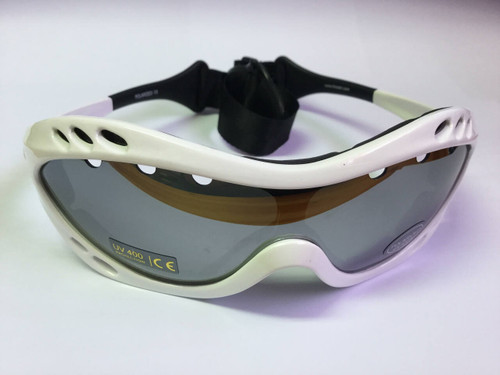 White with  Pale Chrome Lens