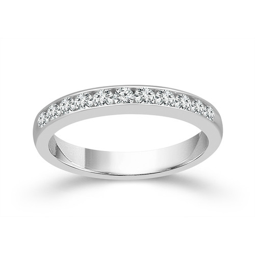 14K White Gold 0.40 Ct Women's Anniversary Band