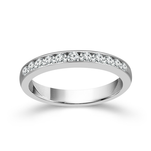 14K White Gold 0.55 Ct Women's Anniversary Band