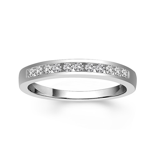 14K White Gold 0.40 Ct Women's Anniversary Channel Setting Band
