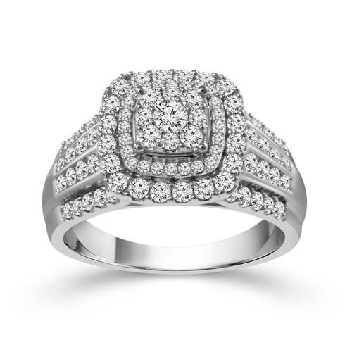 14K White Gold 2.00 ct Women's Engagement Ring