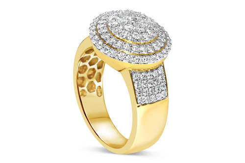 Men's 10K Yellow Gold 1.5 CT Diamond Band Ring