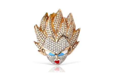 1.65Ct Dragon Diamond Pendant in 10K Yellow Gold