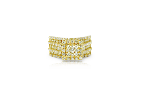 10K Yellow Gold Ladies Ring 2.49ct Diamonds