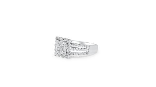 14K White Gold Ladies Ring 0.80ct Diamonds