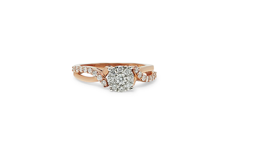 14K Rose Gold Ladies Ring with 0.50ct Diamonds