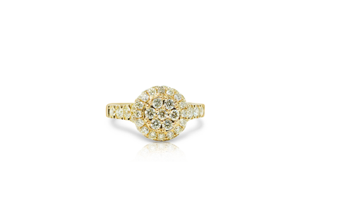 10K Yellow Gold Ladies Ring with 1.80ct Diamonds