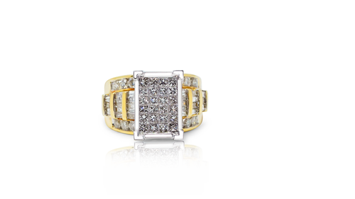 14K Yellow Gold Ladies Ring with 03.00ct Diamonds