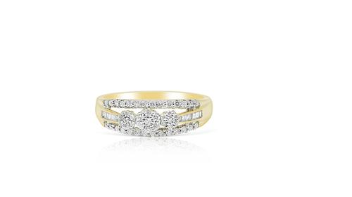 14K Yellow Gold Ladies Ring with 0.36ct Diamonds