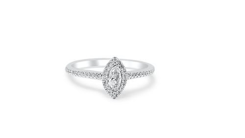 14K White Gold Ladies Ring with 0.33ct Diamonds