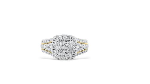 14K Yellow Gold Ladies Ring with 1.50ct Diamonds
