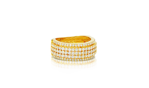 10K Yellow Gold Men's Diamond Band 2.25ct