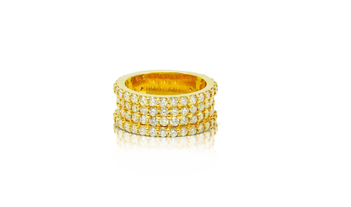 10K Yellow Gold Men's Diamond Band 4.7ct