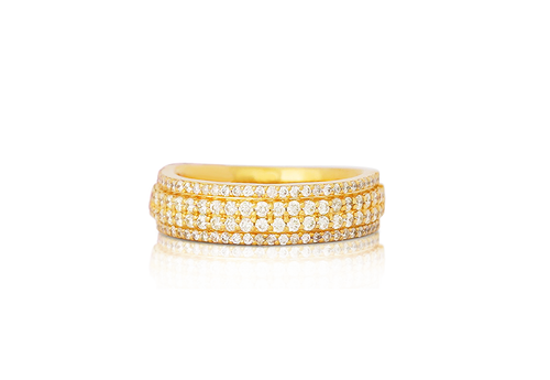 10K Yellow Gold Men's Diamond Ring 1.45Ctw
