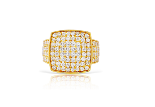 10K Yellow Gold Men's Diamond Ring 3.10Ctw