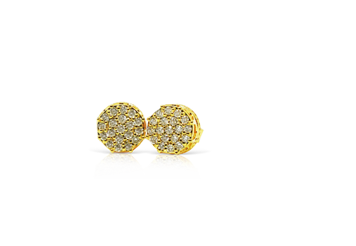10K Yellow Gold 0.33 CT Diamond Round Earrings
