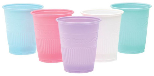 AllSmiles Plastic Drinking Cups 5oz Peach, 1000/Case
