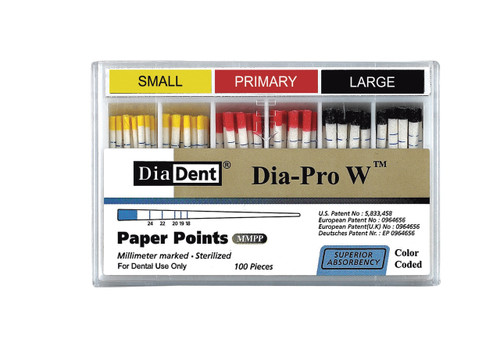 Dia-Pro W Paper Points Small mm Marked (Matches Wave 1 File)