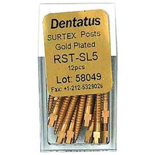 Dentatus Surtex Gold Plated Classic Post Rfl. L3 12/Pk