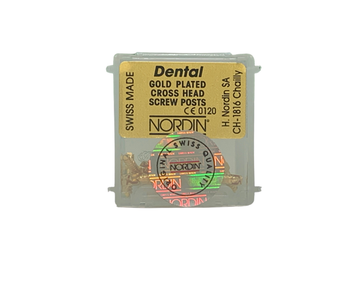 Dentatus-Type Gold Screw Post L4 12/Pk