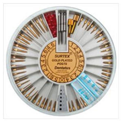 Dentatus Surtex Gold Plated Classic Post Rfl. S1 12/Pk