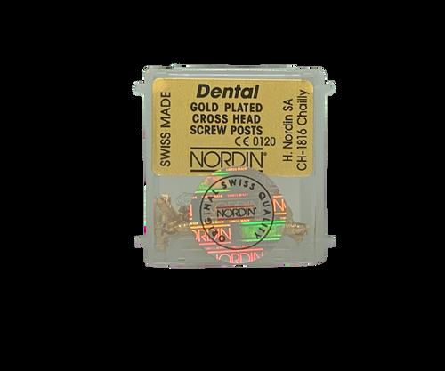 Dentatus-Type Gold Screw Post Rfl. S1 12/Pk