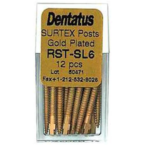 Dentatus Surtex Gold Plated Classic Post Rfl. S-Long 6 12/Pk