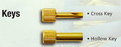 Dentatus Post Wrench Set (1-Hollow Key & 1-Cross Key)