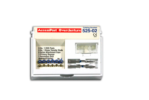 Accesspost Overdenture Indirect Caping Blue/Size 2 6-Posts