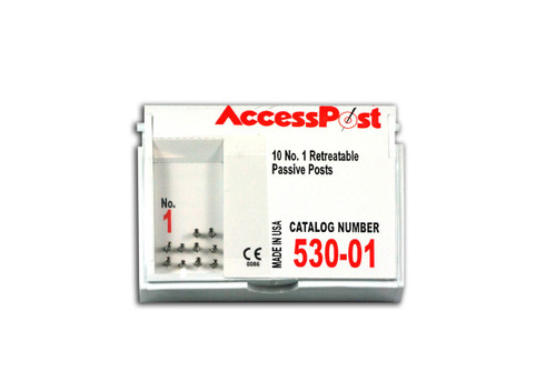 Accesspost Refills Red/Size 1 10-Posts