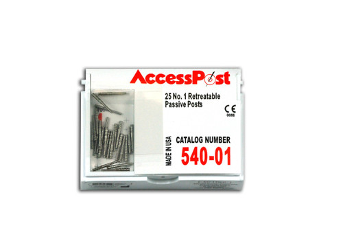 Accesspost Economy Refills Red/Size 1 25-Posts
