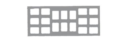 Klear-Vue Cardbord X-Ray Mounts 18-6V #2 100/Pk