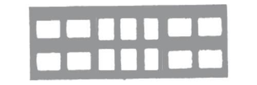 Klear-Vue Cardbord X-Ray Mounts 14-6V #0 100/Pk