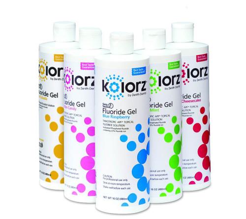 Zenith Kolorz Fluoride Gel Blue Raspberry 16Oz
