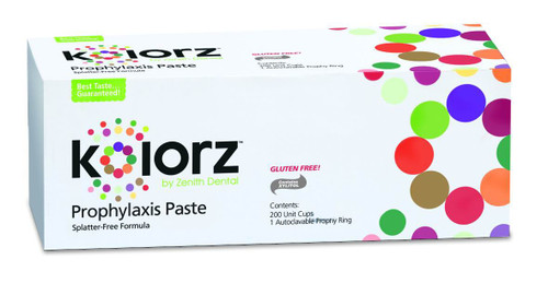 Zenith Kolorz Prophy Paste Triple Mint Fine 200Pk