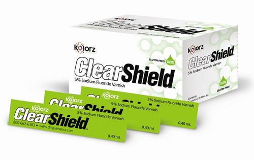 Kolorz Clearshield Fluoride Varnish Mint 35/Pk