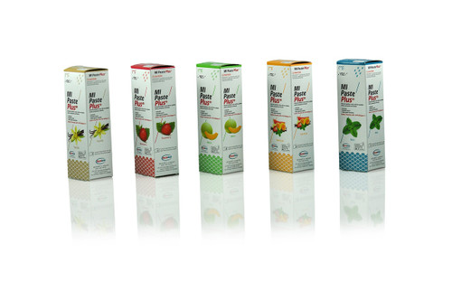 Mi Paste Plus Strawberry Flavor Pack, 10 Pcs W/Fluoride