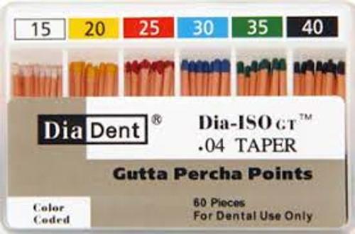 Diadent  Gutta Percha Pt #45  .04 Taper