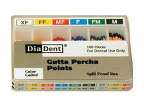 Diadent Gutta Percha Point Fine Med Lm Cc
